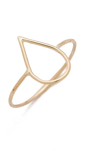 Ariel Gordon Jewelry Delicate Teardrop Silhouette Ring