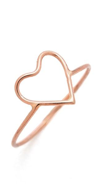 Ariel Gordon Jewelry Delicate Heart Silhouette Ring