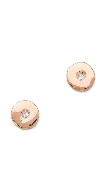 Ariel Gordon Jewelry 14k Gold Mini Circle Stud Earrings
