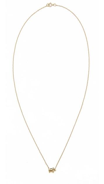 Ariel Gordon Jewelry 14k Gold The Menagerie Piglet Necklace