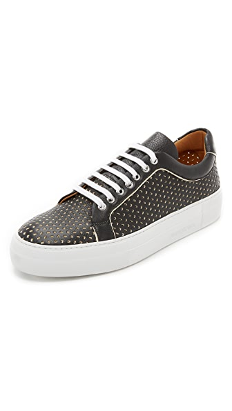 Armando Cabral Broome Perforated Leather Sneakers