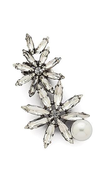 Amber Sceats Imitation Pearl Crystal Flower Ear Cuff
