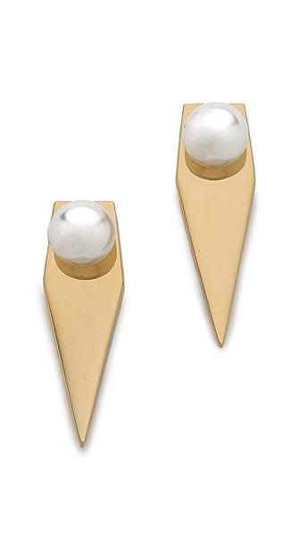Amber Sceats Imitation Pearl Prism Earrings