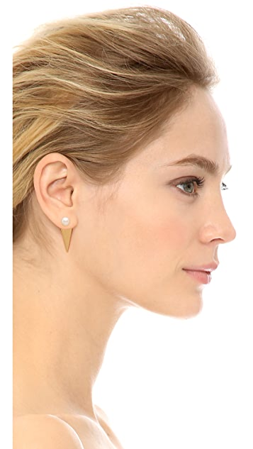 Amber Sceats Imitation Pearl Prism Earrings