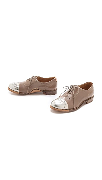 The Office of Angela Scott Mr. Dorchester Metallic Toe Oxfords
