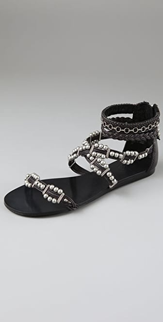 Ash Movida Beaded Crisscross Sandals