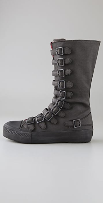Ash Nat Buckle Sneaker Boots