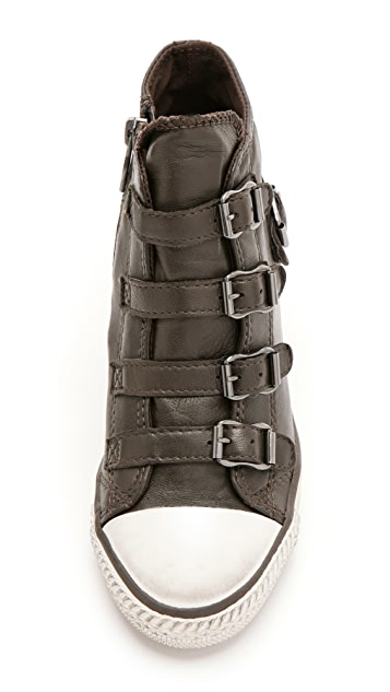 Ash Genial 4 Buckle Wedge Sneakers