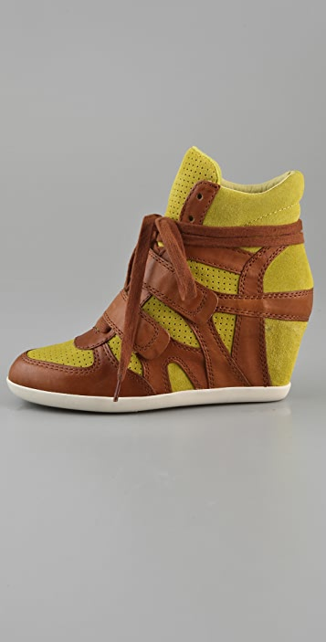 Ash Bea Suede Wedge Sneakers