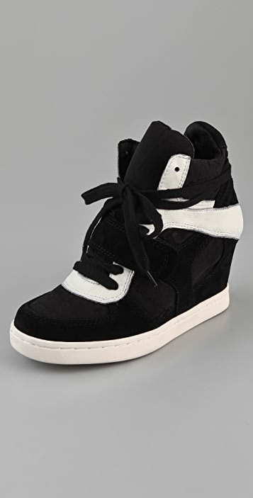 Ash Cool Suede Lace Up Wedge Sneakers