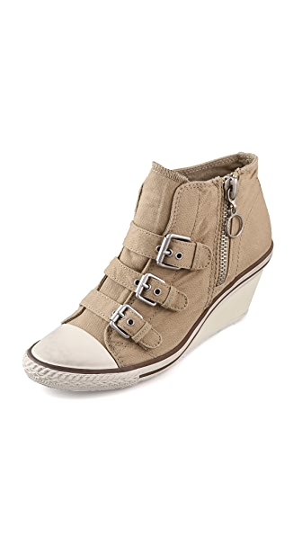 Ash Gin 3 Buckle Wedge Sneakers