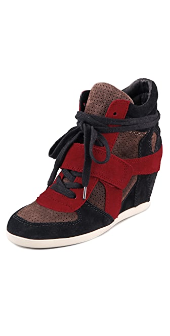 Ash Bowie Suede Wedge Sneakers