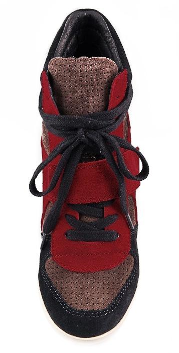 Ash Bowie Suede Wedge Sneakers