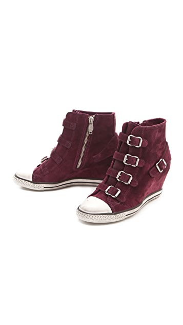 Ash Eagle Buckle Wedge Sneakers