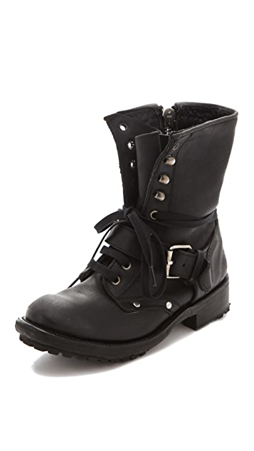 Ash Roses Lace Up Boots