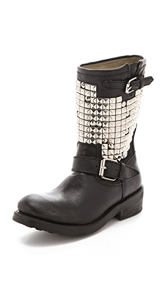 Ash Trash Engineer Boots with Studs