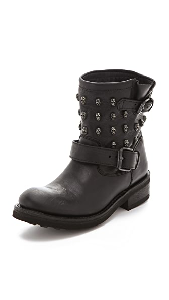 Ash Tess Engineer Boots with Skull Studs