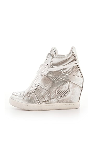 Ash Cool Metallic Wedge Sneakers