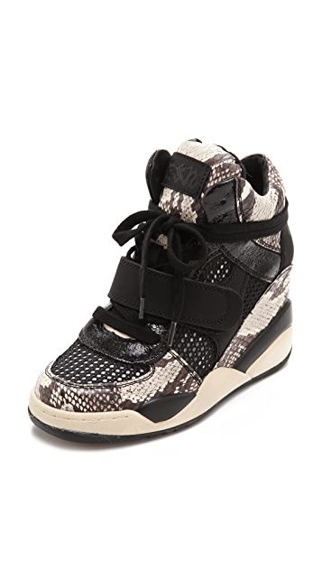 Ash Funky Curved Wedge Sneakers