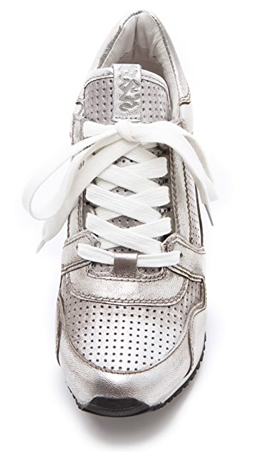 Ash Dean Metallic Wedge Sneakers