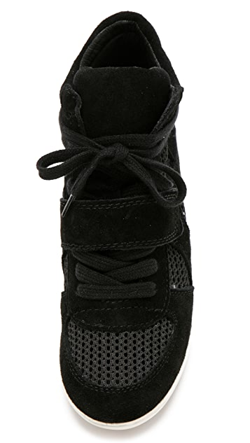 Ash Bowie Wedge Sneakers with Mesh Insets