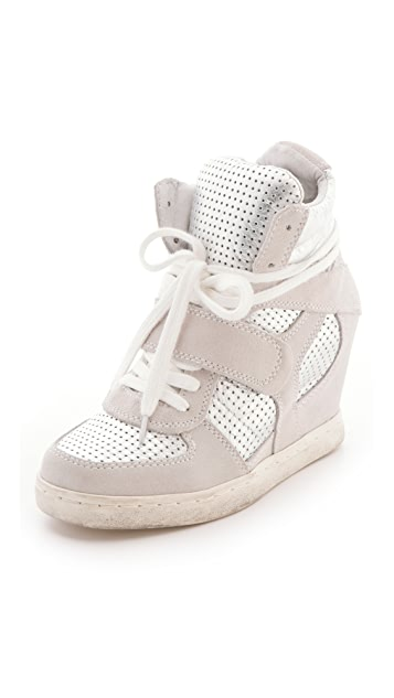 Ash Cool Wedge Sneakers with Metallic Insets