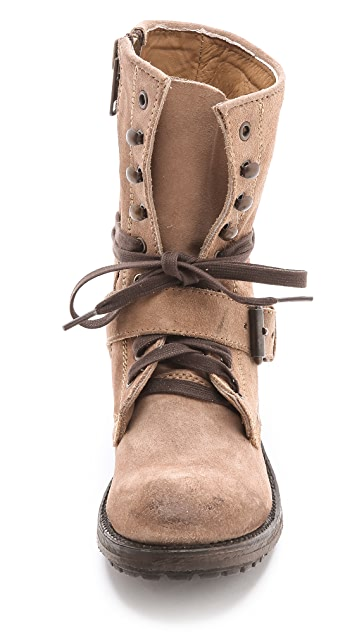 Ash Roses Lace Up Suede Boots