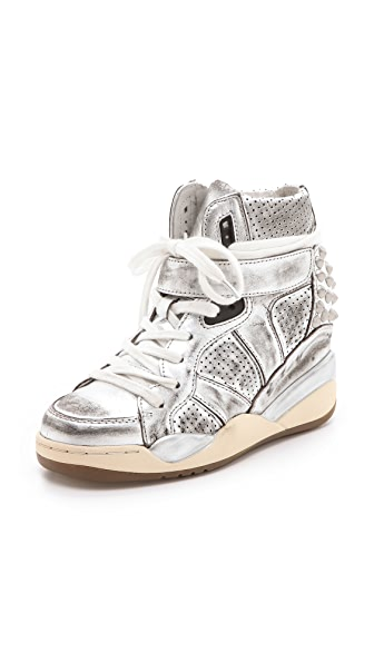 Ash Freak Metallic Wedge Sneakers