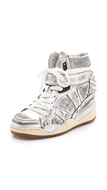 Ash Freak Metallic Wedge Sneakers