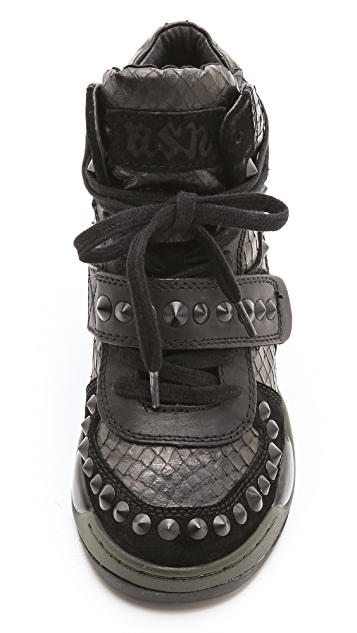 Ash Fancy Studded Wedge Sneakers