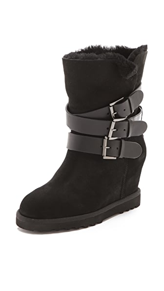 Ash Yes Buckle Wedge Boots