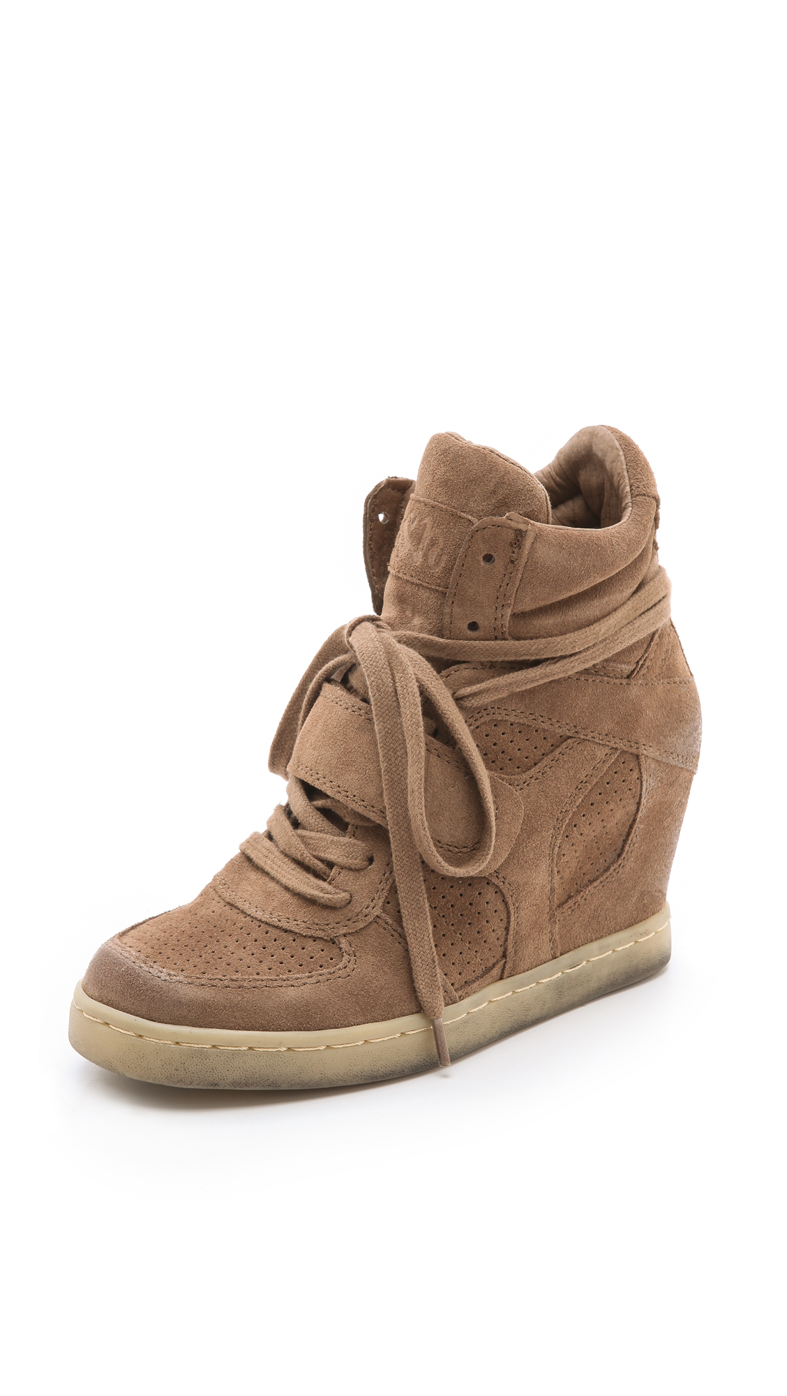 af06ad2ce0d Ash Cool Suede Wedge Sneakers