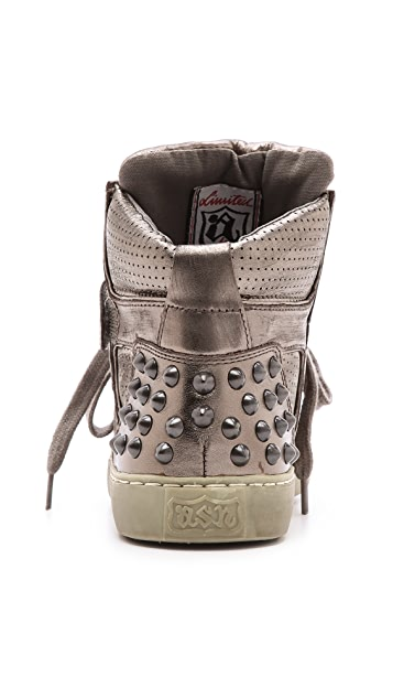 Ash Skunk Studded Sneakers