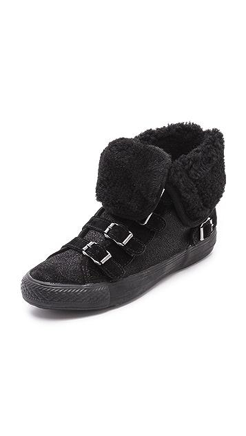 Ash Visby Shearling High Top Sneakers