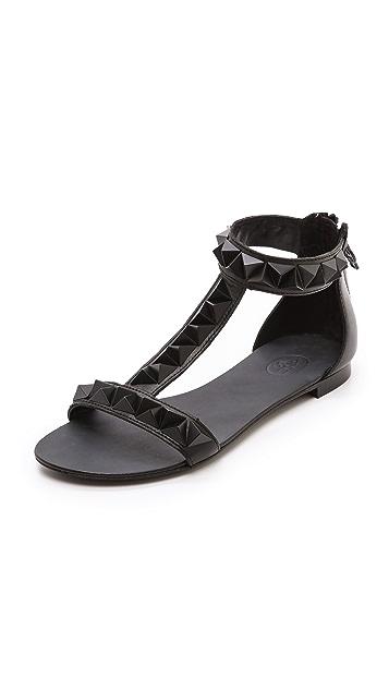 Ash Mosaic Bis Studded Flat Sandals