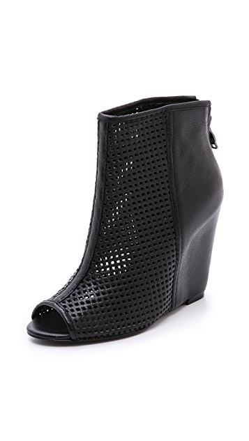 Ash June Perforated Wedge Booties