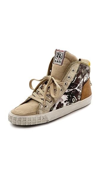 Ash Shake Printed High Top Sneakers
