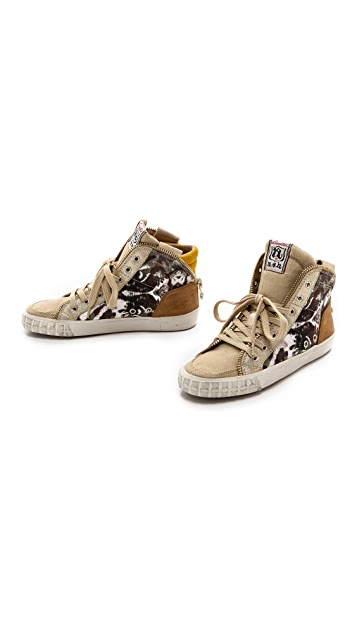Ash Shake Printed High Top Sneakers