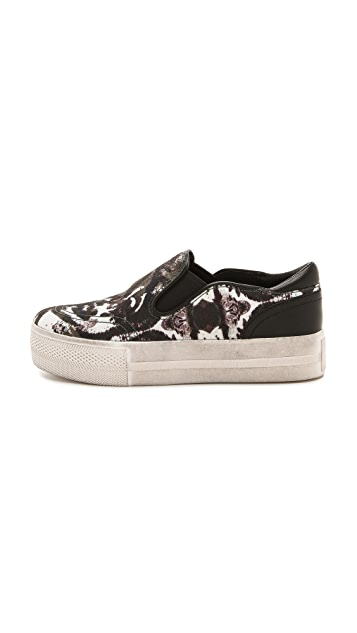 Ash Jungle Bis Printed Slip On Sneakers