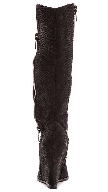 Ash Joyce Leopard Inset Wedge Boots