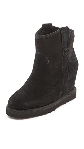 Ash Yakoo Shearling Wedge Booties
