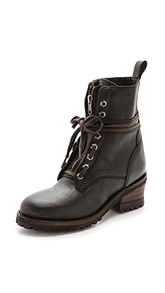 Ash Soviet Lace Up Flat Booties