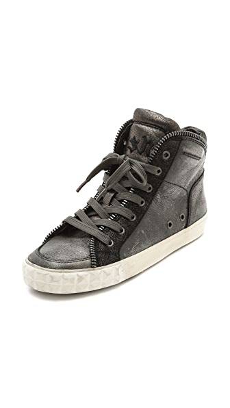Ash Shake High Top Zipper Sneakers