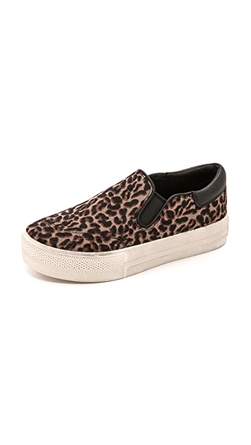 Ash Jam Leopard Haircalf Slip On Sneakers