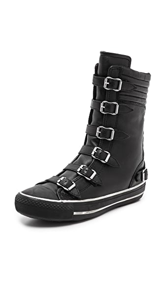 Ash Volcano Super High Top Buckle Sneaker