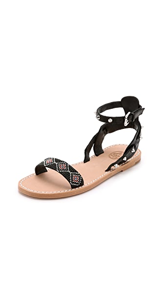 Ash Pearl Beaded Sandals