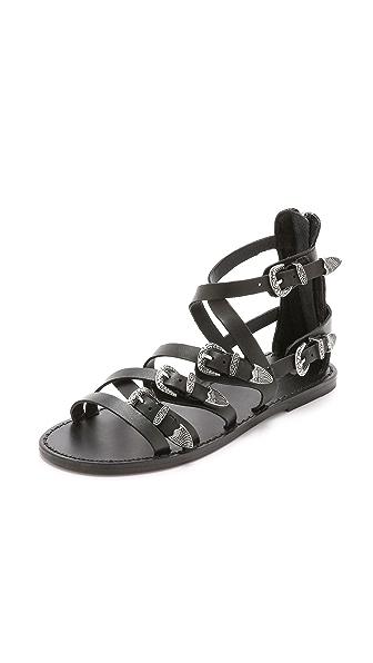 Ash Penelope Buckle Flat Sandals