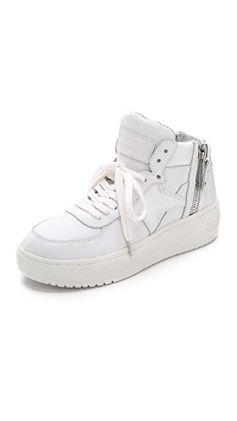 Ash Fly Zippered High Top Sneakers
