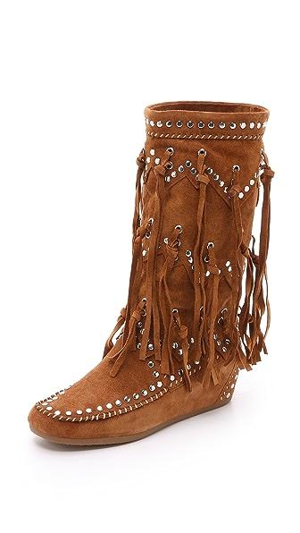 Ash Shilo Suede Fringe Boots