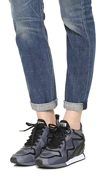 Ash Domino Wedge Sneakers